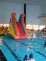 plataforma acuatica hinchable